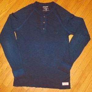 True Religion World Tour Long Sleeve Henley Shirt
